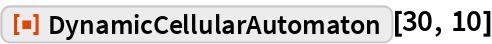 "ResourceFunction[""DynamicCellularAutomaton""][30, 10]"