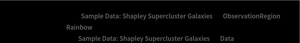 "Show[ContourPlot[density[{x, y}], {x, y} \[Element] ResourceData[\!\(\* TagBox[""\""\<Sample Data: Shapley Supercluster Galaxies\>\"""", #& , BoxID -> ""ResourceTag-Sample Data: Shapley Supercluster Galaxies-Input"", AutoDelete->True]\), ""ObservationRegion""], ColorFunction -> ""Rainbow""], ListPlot[ResourceData[\!\(\* TagBox[""\""\<Sample Data: Shapley Supercluster Galaxies\>\"""", #& , BoxID -> ""ResourceTag-Sample Data: Shapley Supercluster Galaxies-Input"", AutoDelete->True]\), ""Data""], PlotStyle -> Black]]"