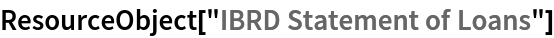 "ResourceObject[""IBRD Statement of Loans""]"