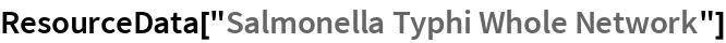 """ResourceData[""""Salmonella Typhi Whole Network""""]"""