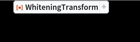 "o = ResourceFunction[""WhiteningTransform""][x]; ListPlot[o, AspectRatio -> Automatic]"