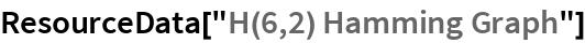 "ResourceData[""H(6,2) Hamming Graph""]"