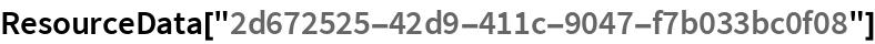 """ResourceData[""""2d672525-42d9-411c-9047-f7b033bc0f08""""]"""