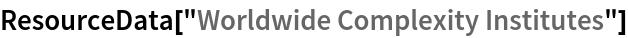 """ResourceData[""""Worldwide Complexity Institutes""""]"""