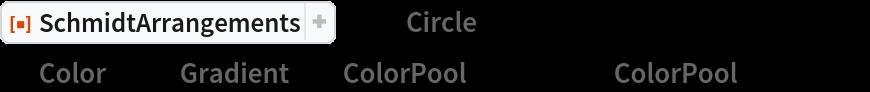 """ResourceFunction[""""SchmidtArrangements""""][-1, """"Circle"""" -> False, """"Color"""" -> {""""Gradient"""", {""""ColorPool"""", {1, 2}}, {""""ColorPool"""", {1, 1}}}]"""