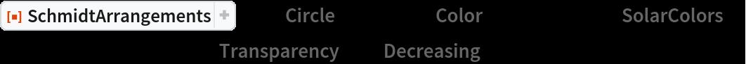 "ResourceFunction[""SchmidtArrangements""][-1, ""Circle"" -> False, ""Color"" -> ColorData[""SolarColors""], Background -> White, ""Transparency"" -> ""Decreasing""]"