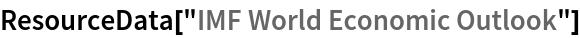 "ResourceData[""IMF World Economic Outlook""]"