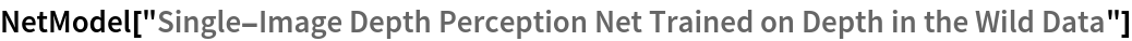 "NetModel[""Single-Image Depth Perception Net Trained on Depth in the \ Wild Data""]"