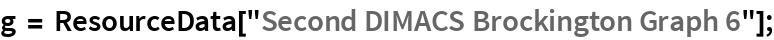 "g = ResourceData[""Second DIMACS Brockington Graph 6""];"