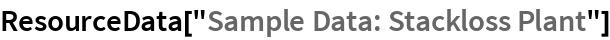 "ResourceData[""Sample Data: Stackloss Plant""]"