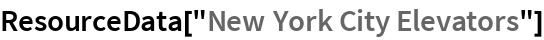"ResourceData[""New York City Elevators""]"