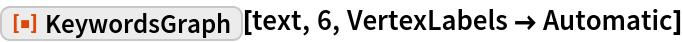 "ResourceFunction[""KeywordsGraph""][text, 6, VertexLabels -> Automatic]"