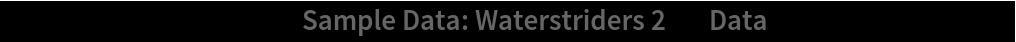 "ListPlot[ResourceData[\!\(\* TagBox[""\""\<Sample Data: Waterstriders 2\>\"""", #& , BoxID -> ""ResourceTag-Sample Data: Waterstriders 2-Input"", AutoDelete->True]\), ""Data""], AspectRatio -> 1]"