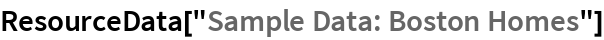 "ResourceData[""Sample Data: Boston Homes""]"