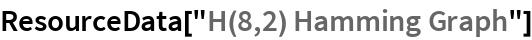 "ResourceData[""H(8,2) Hamming Graph""]"