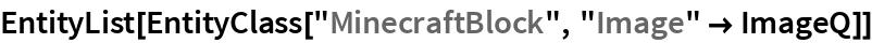 "EntityList[EntityClass[""MinecraftBlock"", ""Image"" -> ImageQ]]"