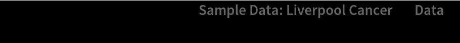 "PointValuePlot[ResourceData[\!\(\* TagBox[""\""\<Sample Data: Liverpool Cancer\>\"""", #& , BoxID -> ""ResourceTag-Sample Data: Liverpool Cancer-Input"", AutoDelete->True]\), ""Data""], PlotLegends -> Automatic]"