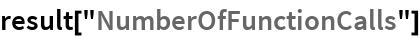 """result[""""NumberOfFunctionCalls""""]"""