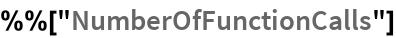"""%%[""""NumberOfFunctionCalls""""]"""