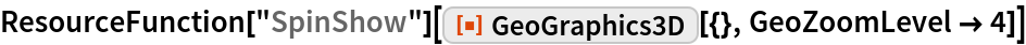 """ResourceFunction[""""SpinShow""""][  ResourceFunction[""""GeoGraphics3D""""][{}, GeoZoomLevel -> 4]]"""