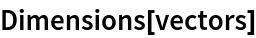 Dimensions[vectors]