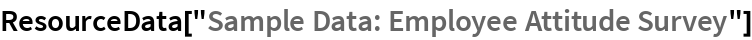 "ResourceData[""Sample Data: Employee Attitude Survey""]"