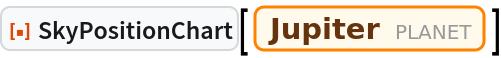 "ResourceFunction[""SkyPositionChart""][Entity[""Planet"", ""Jupiter""]]"