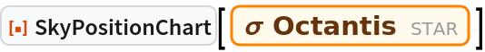 "ResourceFunction[""SkyPositionChart""][Entity[""Star"", ""SigmaOctantis""]]"