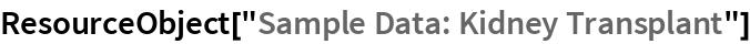 "ResourceObject[""Sample Data: Kidney Transplant""]"