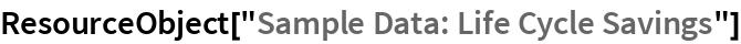 "ResourceObject[""Sample Data: Life Cycle Savings""]"