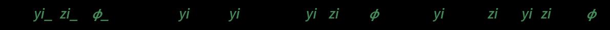 ana[{yi_, zi_}, \[Phi]_] := Re /@ {yi (3 - 2 yi^2 + 2 Sqrt[1 - yi^2] zi Cot[\[Phi]]), 2 (1 - yi^2)^(3/2) + (zi - 2 yi^2 zi) Cot[\[Phi]]}