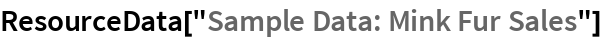 "ResourceData[""Sample Data: Mink Fur Sales""]"