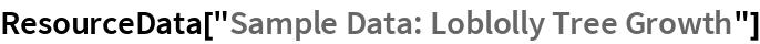 "ResourceData[""Sample Data: Loblolly Tree Growth""]"