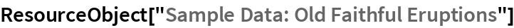 "ResourceObject[""Sample Data: Old Faithful Eruptions""]"