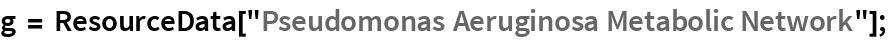 """g = ResourceData[""""Pseudomonas Aeruginosa Metabolic Network""""];"""