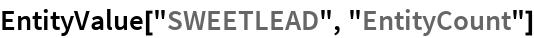 "EntityValue[""SWEETLEAD"", ""EntityCount""]"