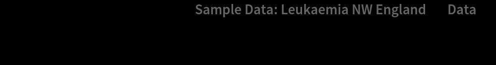 "PointValuePlot[ResourceData[\!\(\* TagBox[""\""\<Sample Data: Leukaemia NW England\>\"""", #& , BoxID -> ""ResourceTag-Sample Data: Leukaemia NW England-Input"", AutoDelete->True]\), ""Data""], {1 -> None, 2 -> None, 3 -> None, 4 -> Automatic}, PlotStyle -> {Magenta, Gray}, PlotLegends -> Automatic]"
