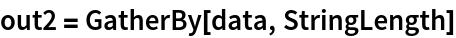 out2 = GatherBy[data, StringLength]