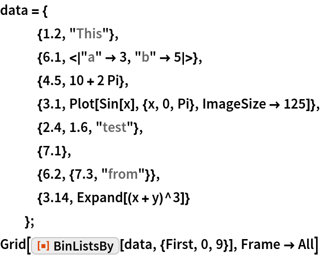 """data = {    {1.2, """"This""""},    {6.1, <