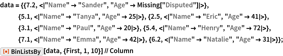 """data = {{7.2, <