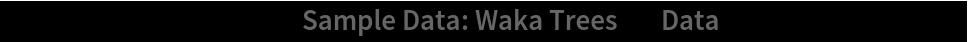 "ListPlot[ResourceData[\!\(\* TagBox[""\""\<Sample Data: Waka Trees\>\"""", #& , BoxID -> ""ResourceTag-Sample Data: Waka Trees-Input"", AutoDelete->True]\), ""Data""], AspectRatio -> 1]"
