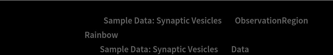 "Show[ContourPlot[density[{x, y}], {x, y} \[Element] ResourceData[\!\(\* TagBox[""\""\<Sample Data: Synaptic Vesicles\>\"""", #& , BoxID -> ""ResourceTag-Sample Data: Synaptic Vesicles-Input"", AutoDelete->True]\), ""ObservationRegion""], ColorFunction -> ""Rainbow""], ListPlot[ResourceData[\!\(\* TagBox[""\""\<Sample Data: Synaptic Vesicles\>\"""", #& , BoxID -> ""ResourceTag-Sample Data: Synaptic Vesicles-Input"", AutoDelete->True]\), ""Data""], PlotStyle -> Black]]"