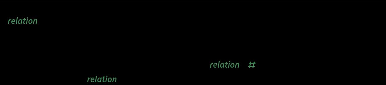Scan[relation |-> Print[AbsoluteTiming@     Row[Riffle[       Prepend[plotRelationConstraints[{relation}, #] & /@ Range[2, 6],         Framed[relation, Background -> LightGray]], Spacer[8]]]], {b\[SmallCircle](a\[SmallCircle]a) == a, b\[SmallCircle](a\[SmallCircle]b) == a}]