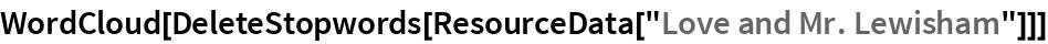 "WordCloud[DeleteStopwords[ResourceData[""Love and Mr. Lewisham""]]]"