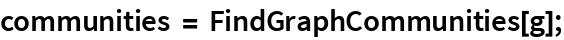 communities = FindGraphCommunities[g];