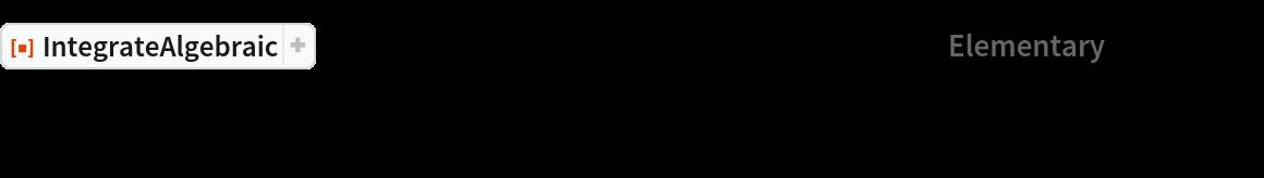 "ResourceFunction[""IntegrateAlgebraic""][(   6 x^8 + 1)/((2 x^8 - 1) Power[    4 x^16 + 2 x^10 - 4 x^8 - x^4 - x^2 + 1, (4)^-1]), x, ""Elementary"" -> False] // Simplify"