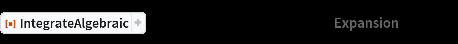 "ResourceFunction[  ""IntegrateAlgebraic""][((1 + 2 x + 2 x^2) (x^2 + x^4)^(1/4))/(  1 + 2 x^2), x, ""Expansion"" -> True]"