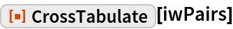 "ResourceFunction[""CrossTabulate""][iwPairs]"