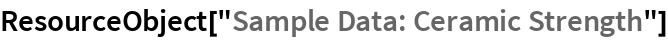 "ResourceObject[""Sample Data: Ceramic Strength""]"