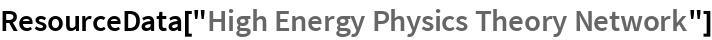 "ResourceData[""High Energy Physics Theory Network""]"